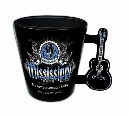Mississippi Shot Glass Classic W/Guitar Handle