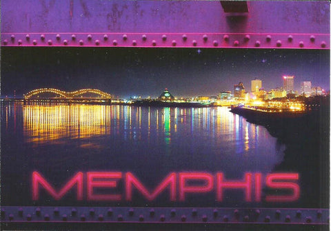 Memphis Postcard Night View from the River