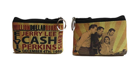 Million Dollar Quartet Key Chain Coin Purse Sepia