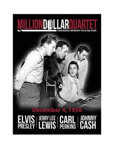 Million Dollar Quartet Magnet Black & White
