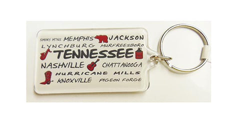 Tennessee Key Chain Cities and Icons
