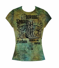 Branson T-Shirt with Rhinestones Freedom