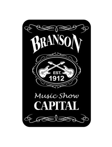 Branson Playing Cards Blk & Wht Est.