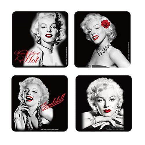 Marilyn Coasters Bombshell, Red Lips, Red Sheets, Like It Hot