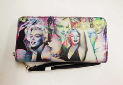 Marilyn Wallet Colorful Collage