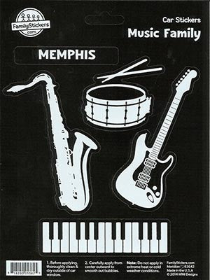 Memphis Stickers Car Music Family