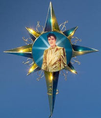 Elvis Tree Topper Gold Lame