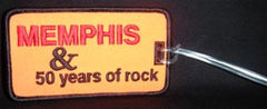 Memphis Luggage Tag 50 Years Rock