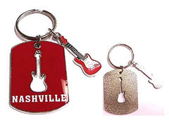 Nashville Key Chain Guitar Charm 2D