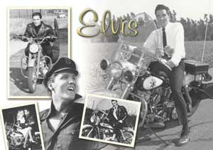 Elvis Postcard Motorcycle