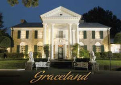 Elvis Postcard Graceland @ Night