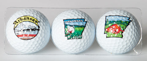 Arkansas Golf Balls(Set of 3)