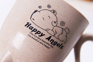 Happy Angle - Cat Pattern Handle Coffee Mug