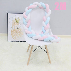 Newborn Baby Braid Bed Bumpers