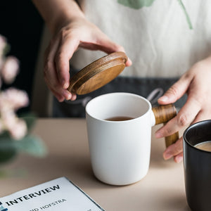 Ceramic Mug with Wooden Handle