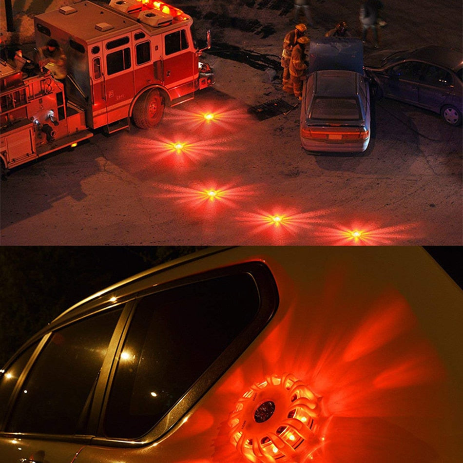 4pcs/set Magnetic Roadside Emergency LED Light