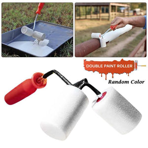 Double Paint Roller Brush