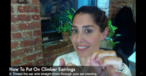Curved Quill Climber Earring How-To
