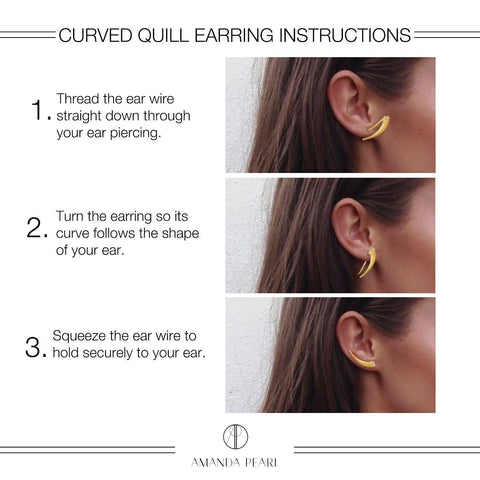 Curved Quill Earring How-To