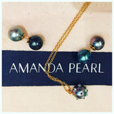 Spiked Pearl Pendant Necklace - AMANDA PEARL - elegantly edgy accessories