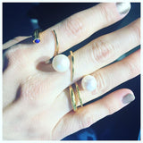 SAMPLE SALE - Quill Bypass Ring - AMANDA PEARL