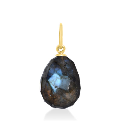 14k Faceted Labradorite Charm