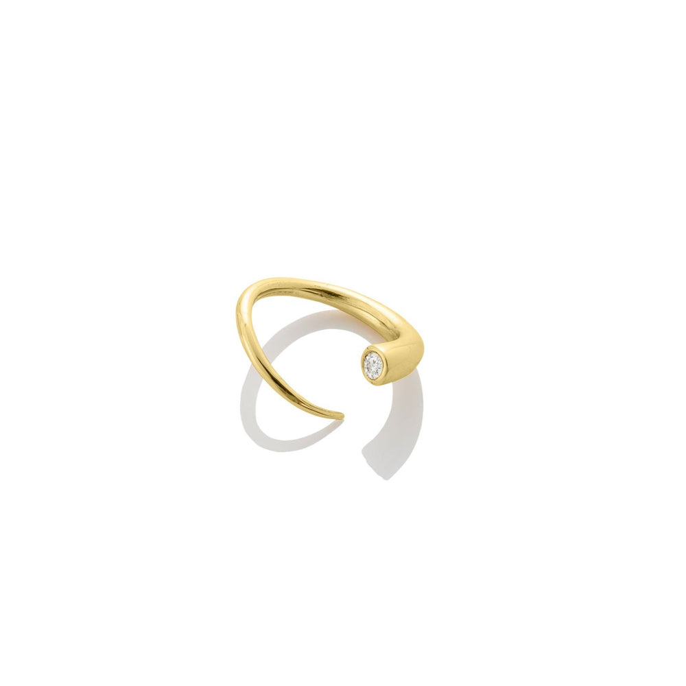 14K Quill Bypass Ring - AMANDA PEARL