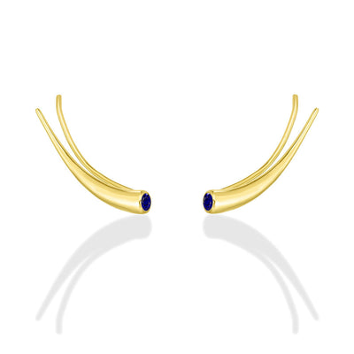 14K Curved Quill Climber Earrings