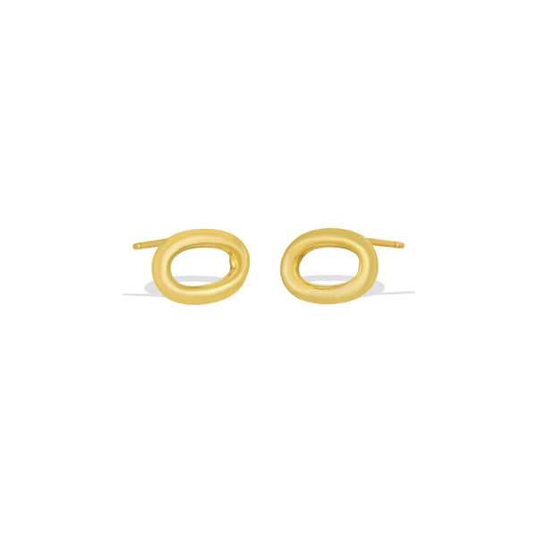 Link Stud Earrings - AMANDA PEARL