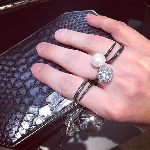 Wrap Ring with Stone Spiked Urchin