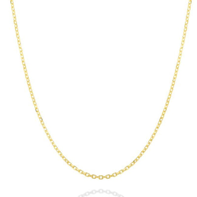 14K Diamond Cut Cable Chain