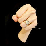Quad Quill Ring - Gold - AMANDA PEARL