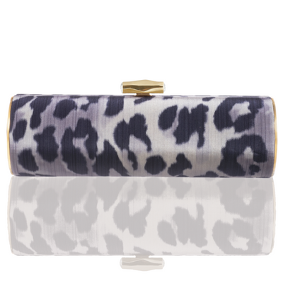 Jean: Clouded Leopard Print Roll Clutch