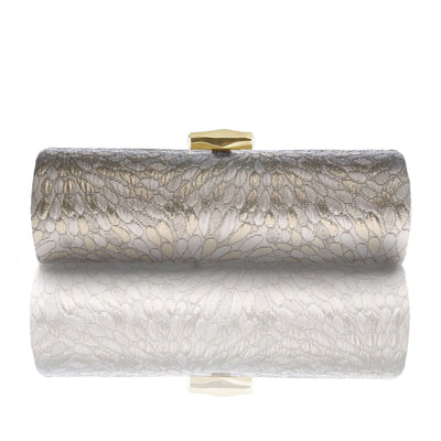 INDIRA: Gold Brocade Roll Clutch