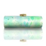 Nahla: Hand Painted Silk Roll Clutch - AMANDA PEARL
