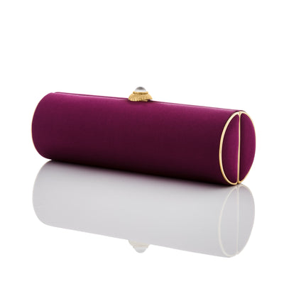 Susan: Aubergine Duchess Roll Clutch