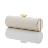 Ivory Duchess Roll Clutch - Gold Frame