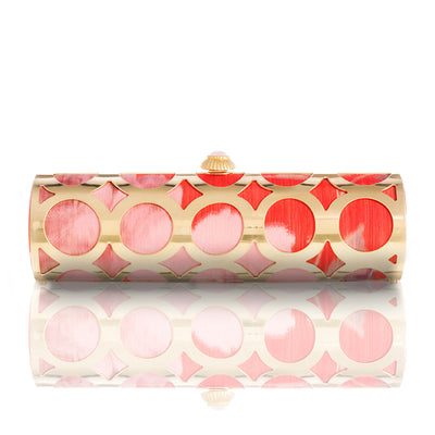 Gia: Coral Floral Alessia Clutch