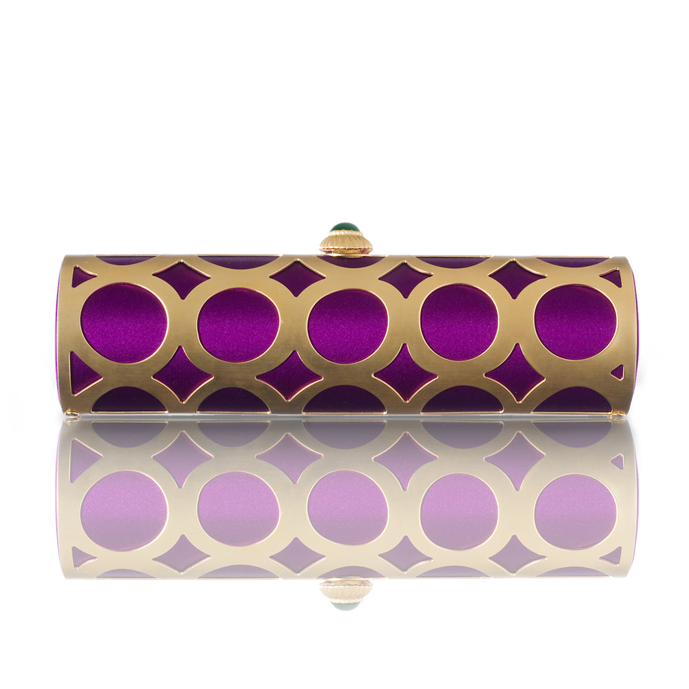 Orchid Satin Alessia Clutch