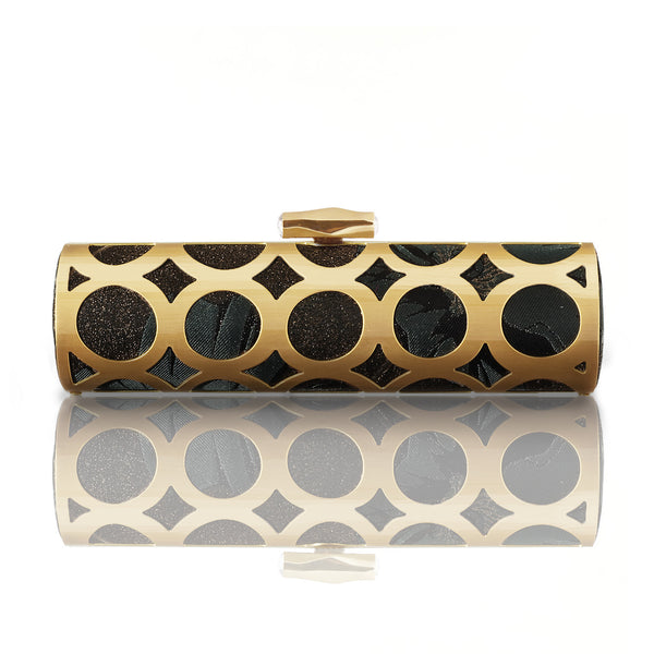 Poppies Brocade Alessia Clutch - AMANDA PEARL