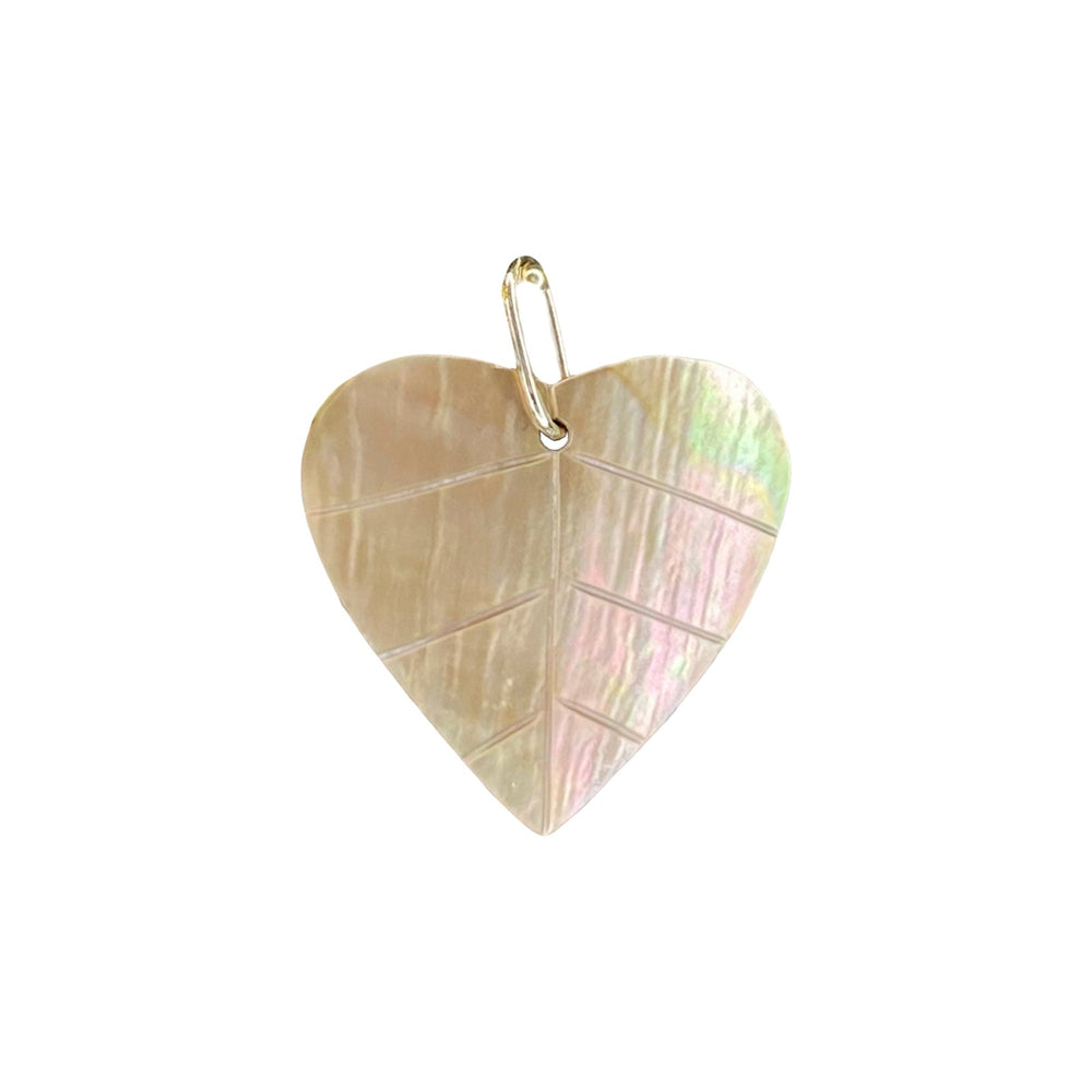 14K Heart Charm - Mother-of-Pearl