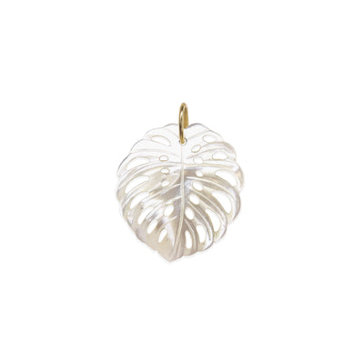14k Monstera Charm - Mother-of-Pearl