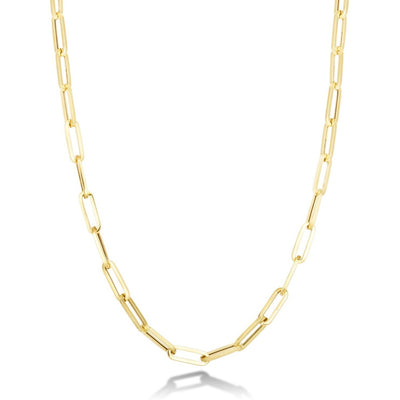 14K Chunky Paperclip Chain Necklace
