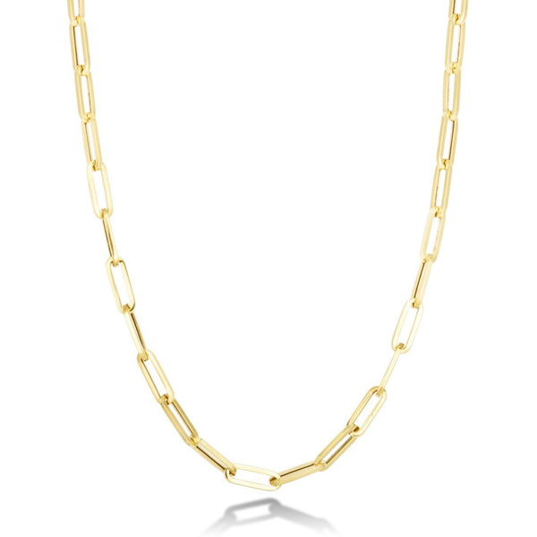 14K Chunky Paperclip Chain Necklace - AMANDA PEARL