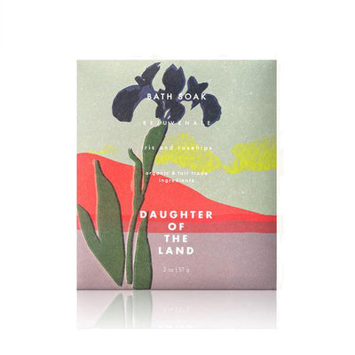 Daughter of the Land - Iris + Rosehips Bath Soak (Single Serving)