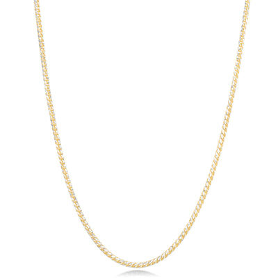 14K Diamond Cut Rope Chain Necklace