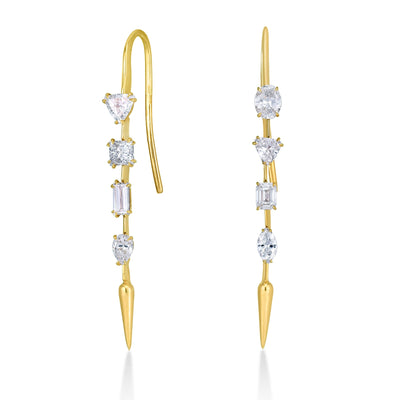 14K Diamond Foundry x AP Diamond Drop Earrings