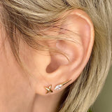 14K Diamond Foundry x AP Diamond Spike Studs - AMANDA PEARL