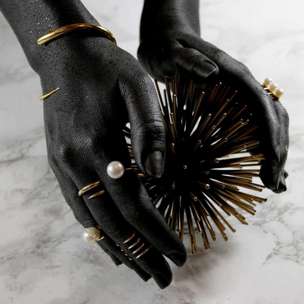 Quill Bypass Bracelet - AMANDA PEARL - elegantly edgy accessories