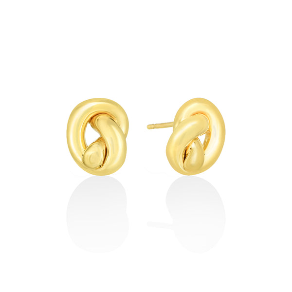 14K Love Knot Earrings - AMANDA PEARL